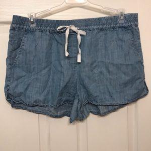 W LOFT Chambray shorts